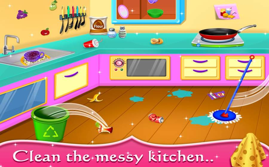 My Baby Doll House - Tea Party & Cleaning Game截图3
