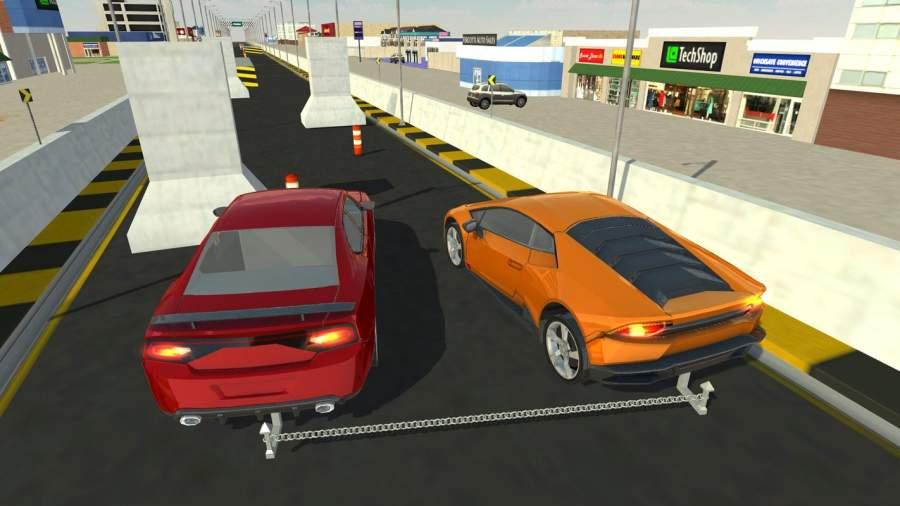 连锁车对手赛车疯狂特技驱动3D截图1