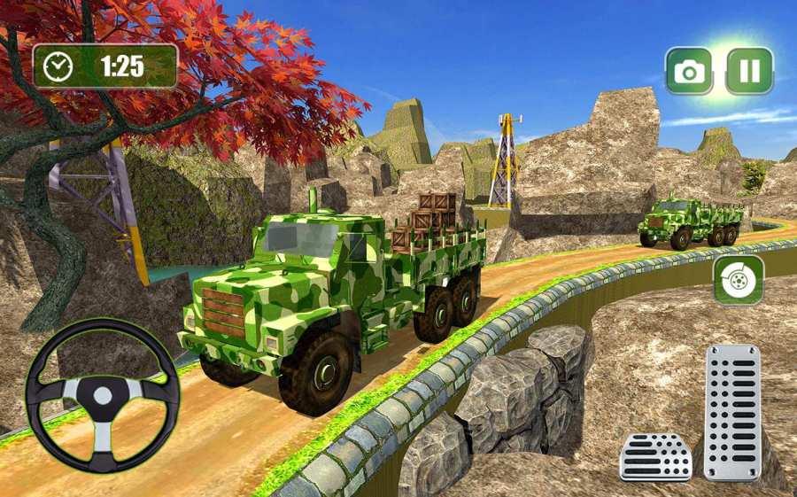 美国越野陆军货车驾驶运输游戏截图1