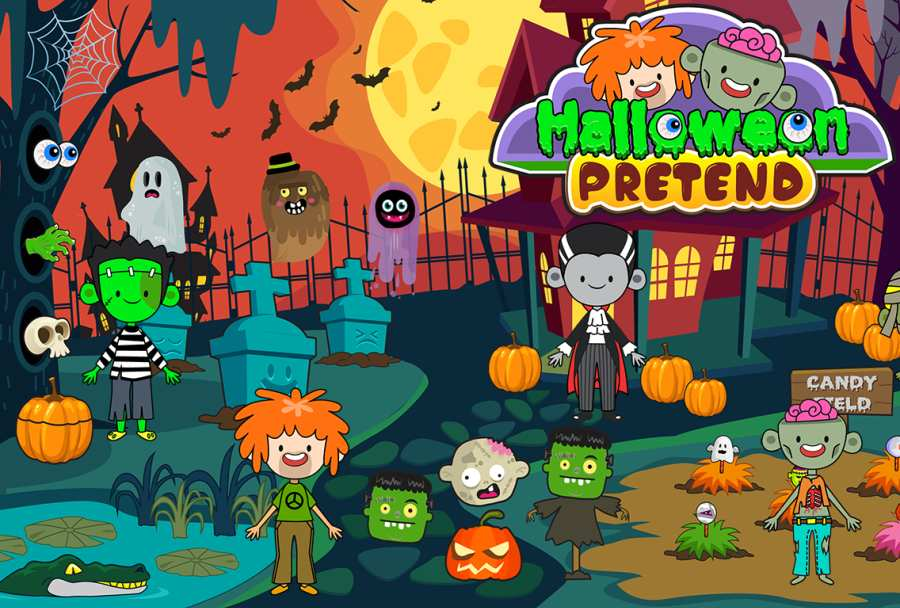 My Pretend Halloween - Trick or Treat Friends FREE截图0