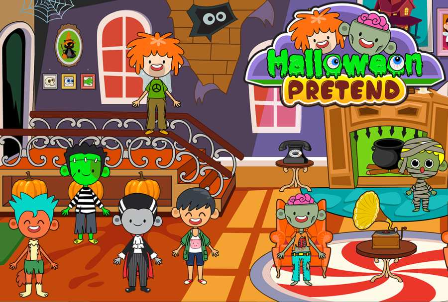 My Pretend Halloween - Trick or Treat Friends FREE截图1