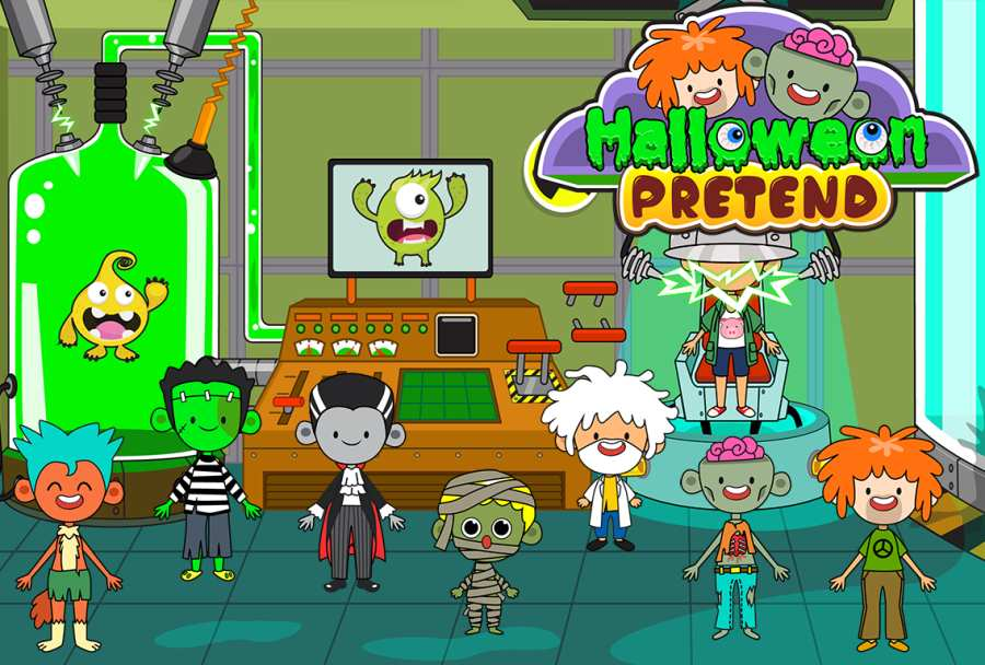 My Pretend Halloween - Trick or Treat Friends FREE截图2