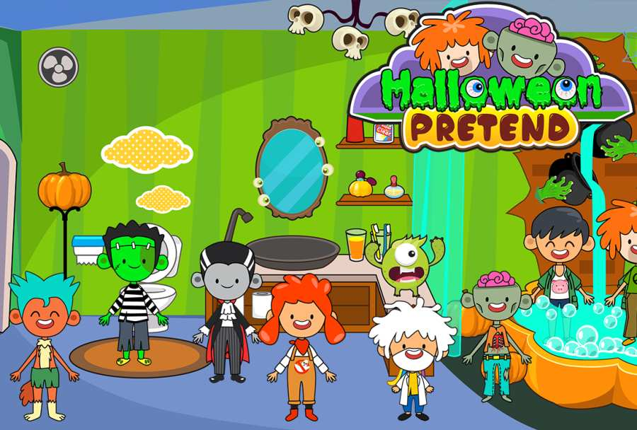 My Pretend Halloween - Trick or Treat Friends FREE截图3