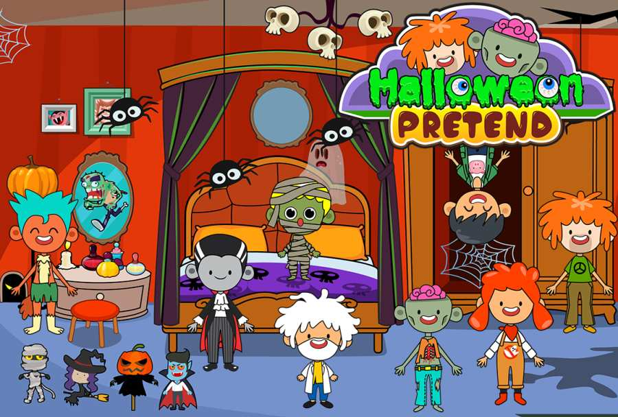 My Pretend Halloween - Trick or Treat Friends FREE截图4