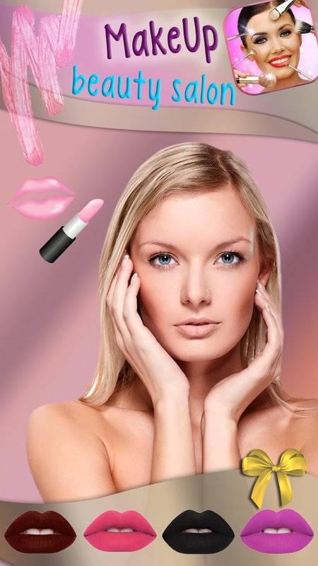 化妆 美颜相机 图片编辑器 - 虚拟美容院 贴纸 照片蒙太奇截图0