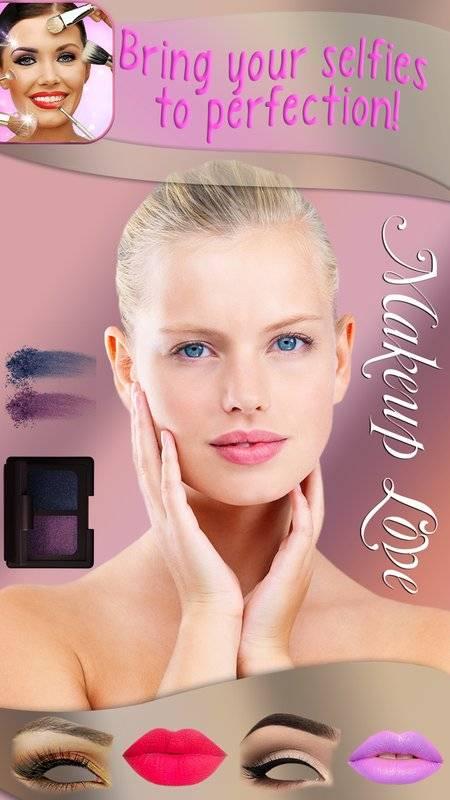 化妆 美颜相机 图片编辑器 - 虚拟美容院 贴纸 照片蒙太奇截图2