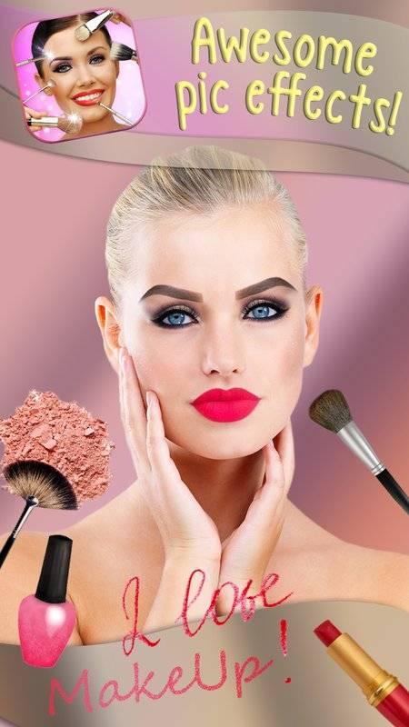 化妆 美颜相机 图片编辑器 - 虚拟美容院 贴纸 照片蒙太奇截图3