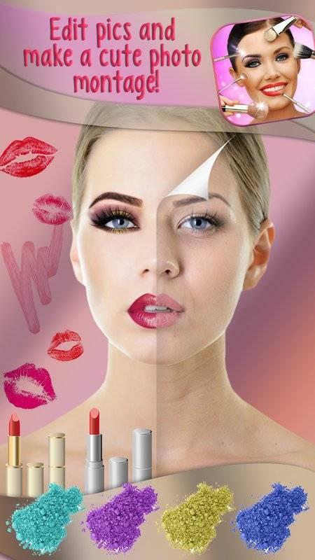 化妆 美颜相机 图片编辑器 - 虚拟美容院 贴纸 照片蒙太奇截图4