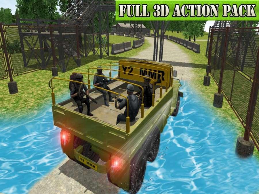 军事 卡车 司机: 军队 越野 吉普车 主动