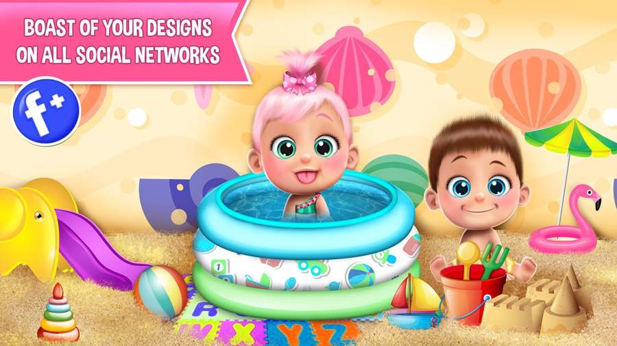 甜宝宝娃娃屋游戏截图4