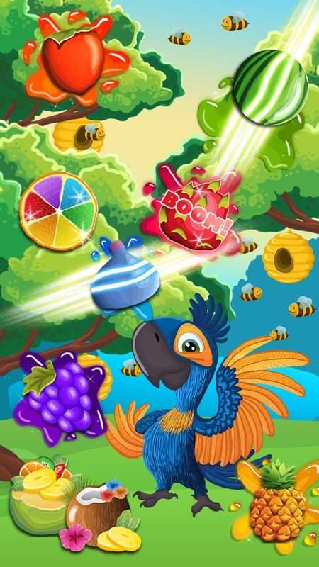 Fruit Rio Splash: Match 3截图1