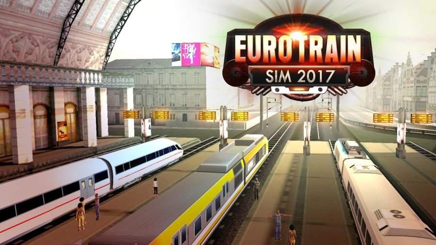 Euro Train Sim Driver 2017截图2