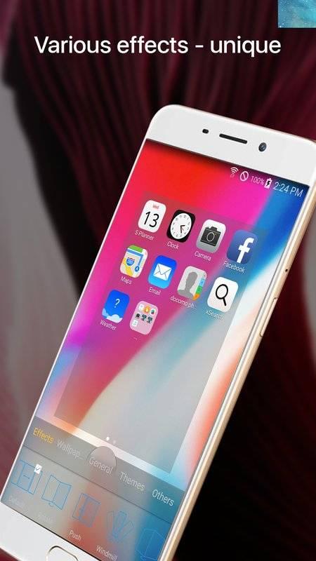 OS11 Phone X Launcher截图1
