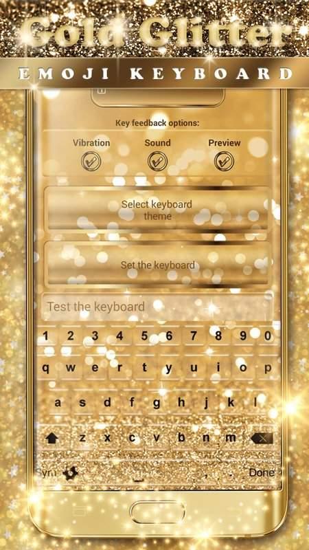 金閃光鍵盤表情符號