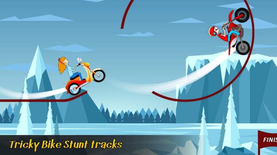 极限自行车特技游戏 - 顶级摩托截图0