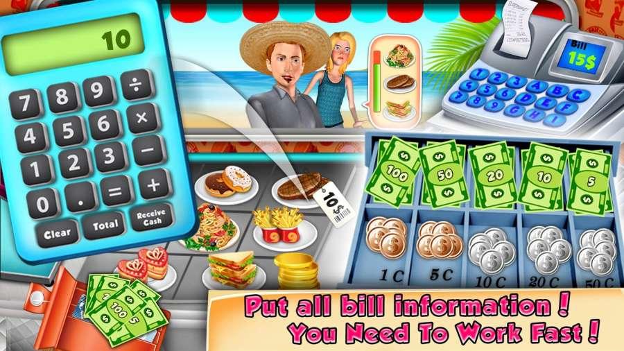食品卡车收银员和烹饪游戏截图1