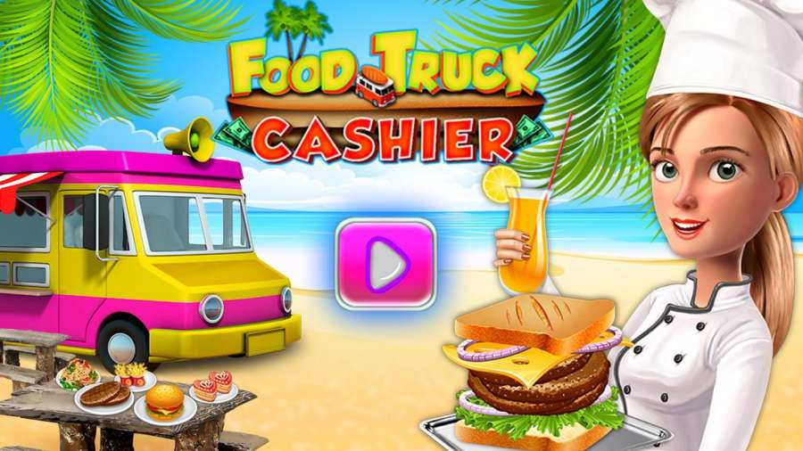 食品卡车收银员和烹饪游戏截图2