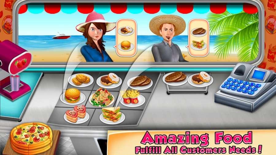 食品卡车收银员和烹饪游戏截图3