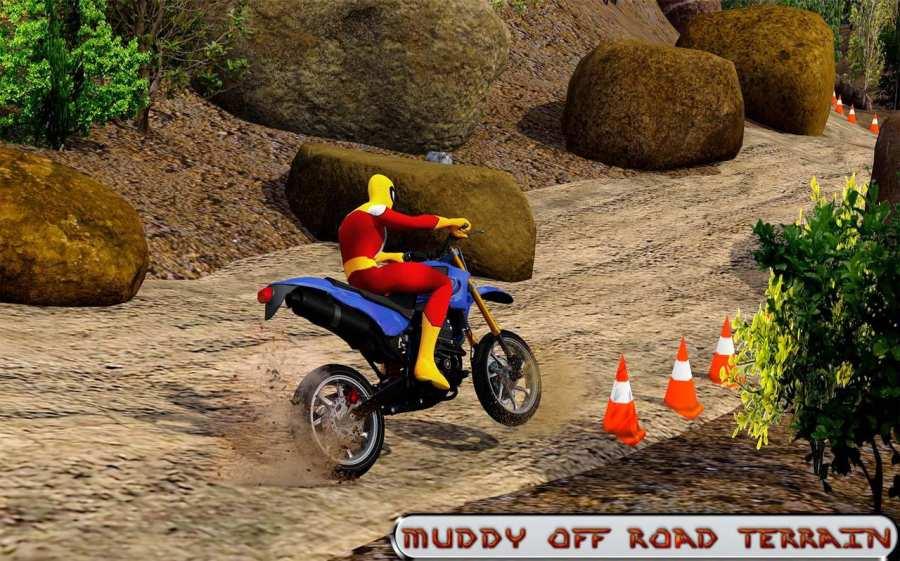 越野山自行车赛车:摩托十字传奇3D截图10