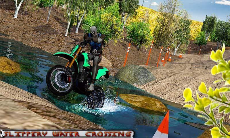 越野山自行车赛车:摩托十字传奇3D截图3