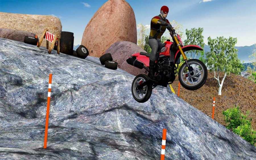 越野山自行车赛车:摩托十字传奇3D截图4