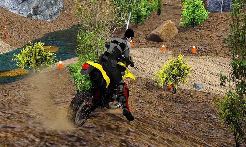 越野山自行车赛车:摩托十字传奇3D截图5