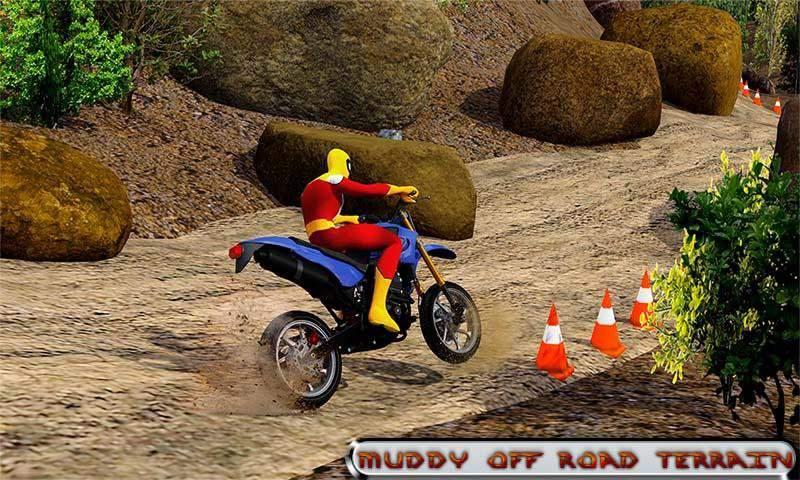 越野山自行车赛车:摩托十字传奇3D截图6