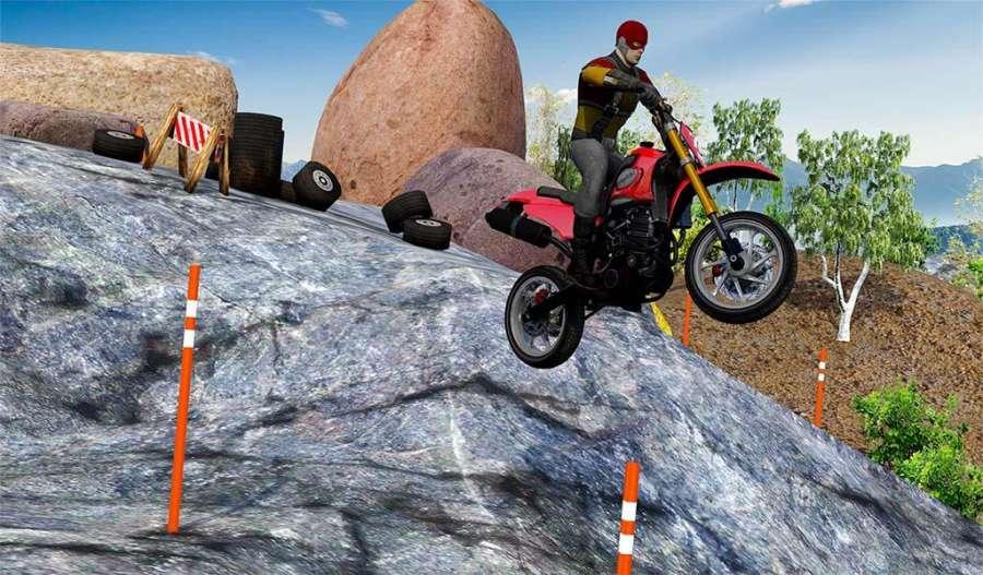 越野山自行车赛车:摩托十字传奇3D截图7