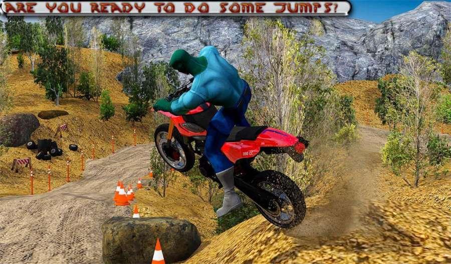 越野山自行车赛车:摩托十字传奇3D截图9
