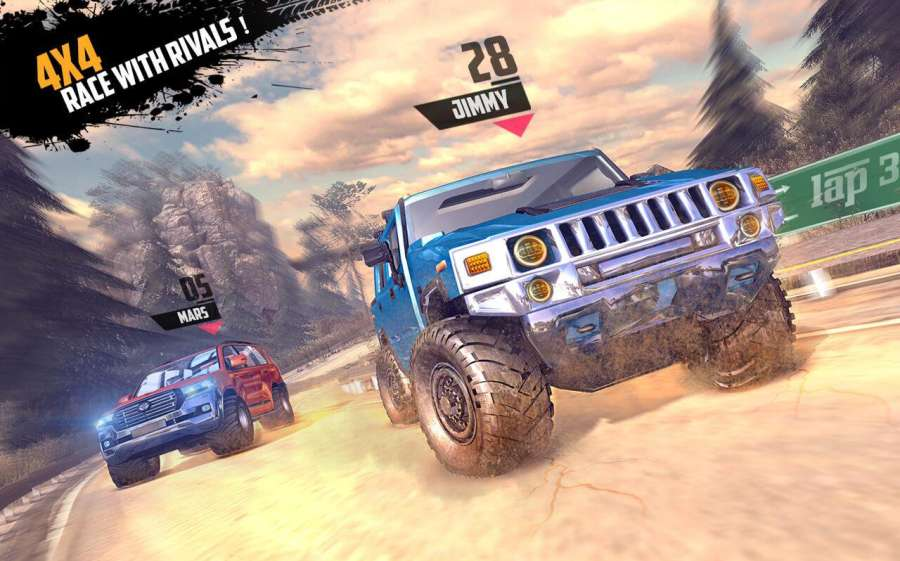 Offroad Jeep Hill Racing: 4x4 Xtreme Rally Driver截图1