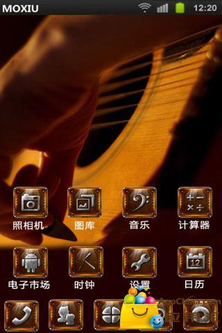 玩免費工具APP|下載爱吉他桌面主题-魔秀 app不用錢|硬是要APP