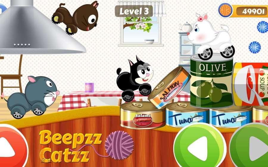 汽车赛车游戏的孩子 – Beepzz 猫