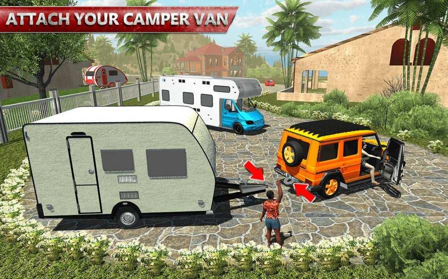 露营大篷车驾驶模拟器:沙滩游戏截图3