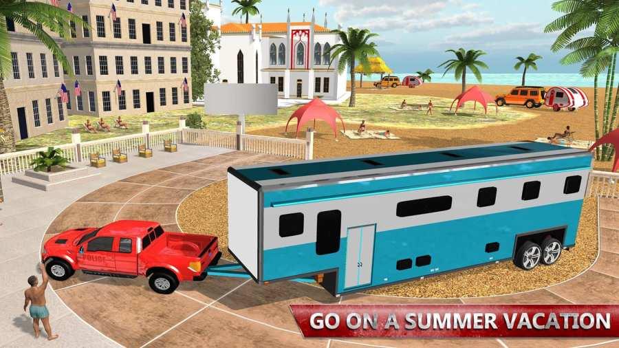 露营大篷车驾驶模拟器:沙滩游戏截图4