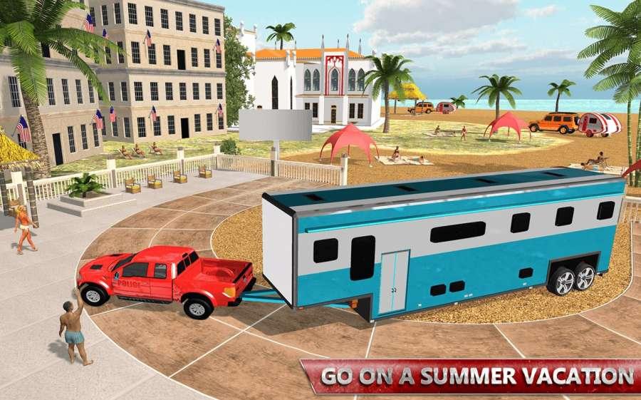 露营大篷车驾驶模拟器:沙滩游戏截图8