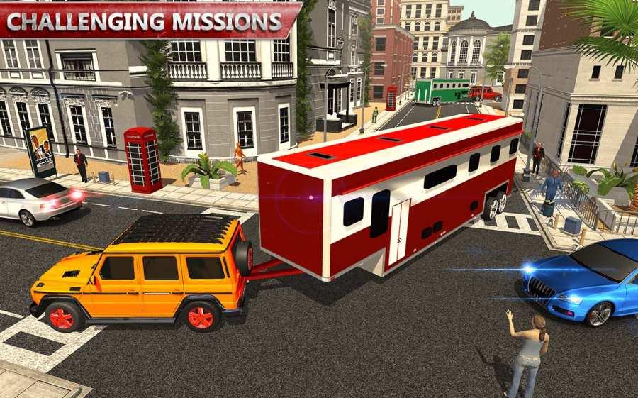 露营大篷车驾驶模拟器:沙滩游戏截图9