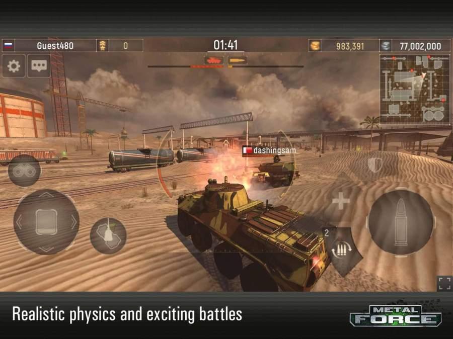 Metal Force: 最好的在線坦克射擊遊戲截图0