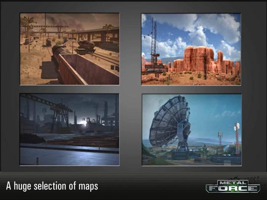 Metal Force: 最好的在線坦克射擊遊戲截图1