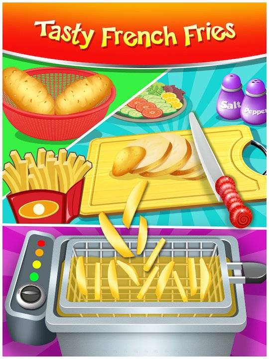 Happy Kids Meal Maker - Burger Cooking Game截图1