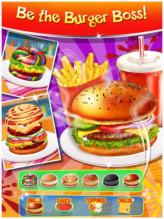 Happy Kids Meal Maker - Burger Cooking Game截图3