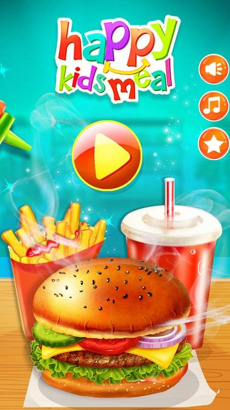 Happy Kids Meal Maker - Burger Cooking Game截图4