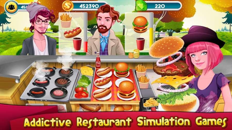 烹饪游戏厨师餐厅:汉堡救援发烧截图1