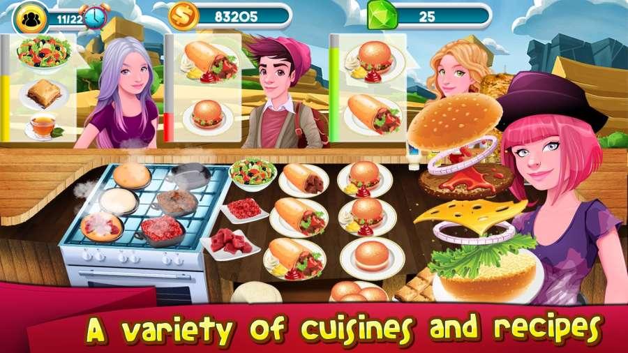 烹饪游戏厨师餐厅:汉堡救援发烧截图3