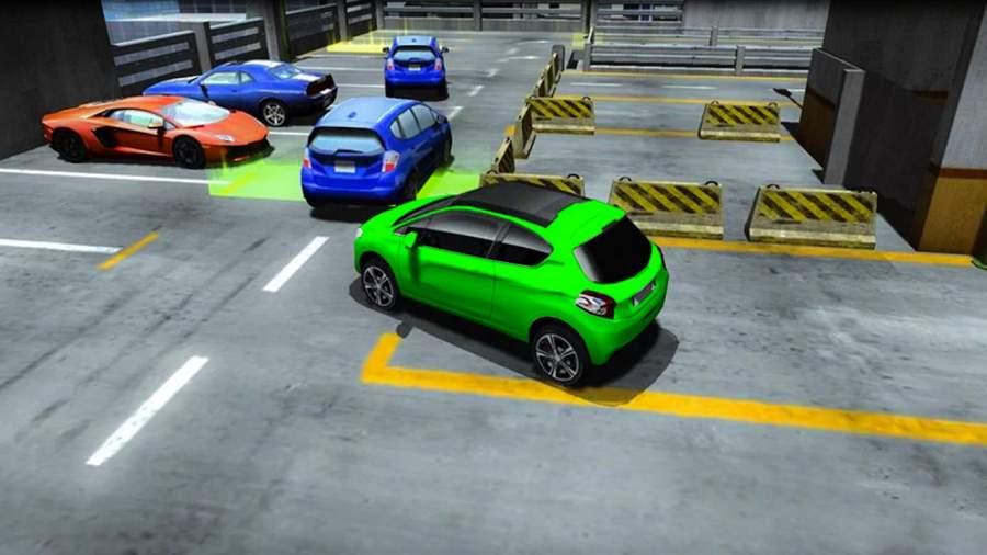 真实 汽车 驾驶 停車處截图2