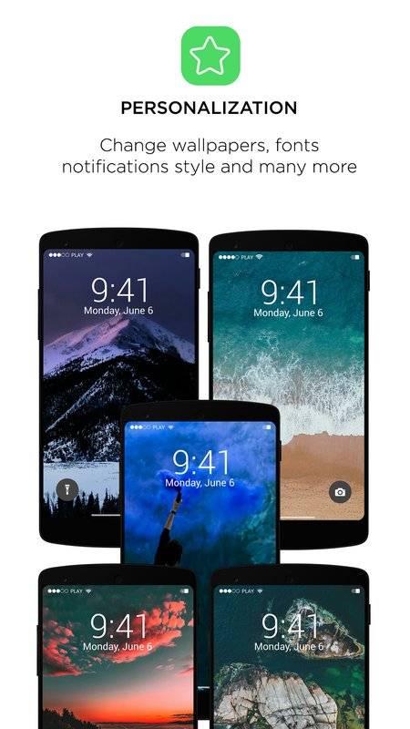 Phone X Lock Screen - IOS11 Locker style截图0