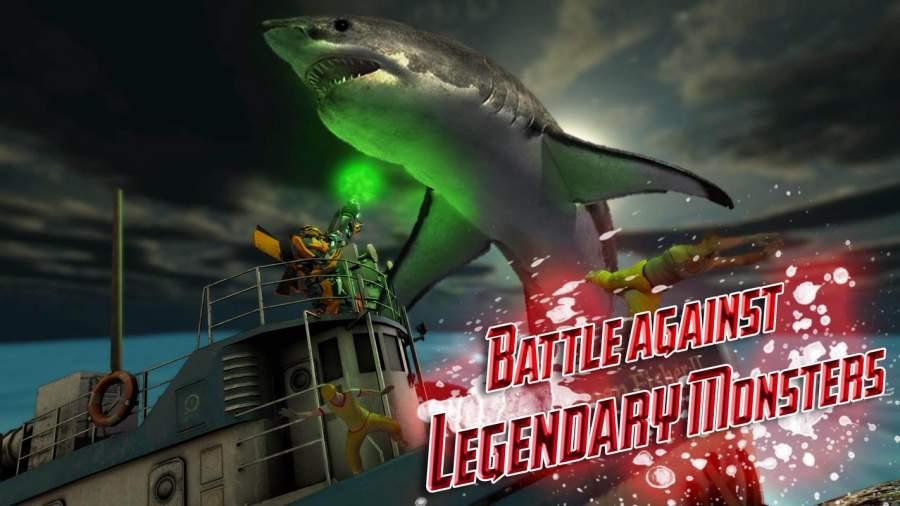 汽车机器人鲨鱼狩猎 - 怪物鲨鱼生存截图0