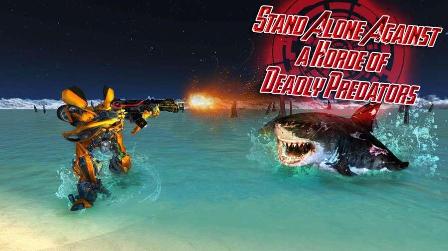 汽车机器人鲨鱼狩猎 - 怪物鲨鱼生存截图3