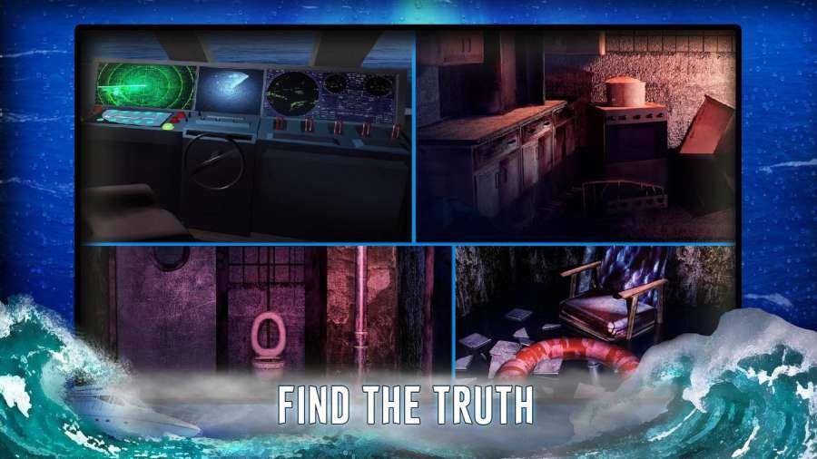 从船上逃生 - 神秘的冒险截图1