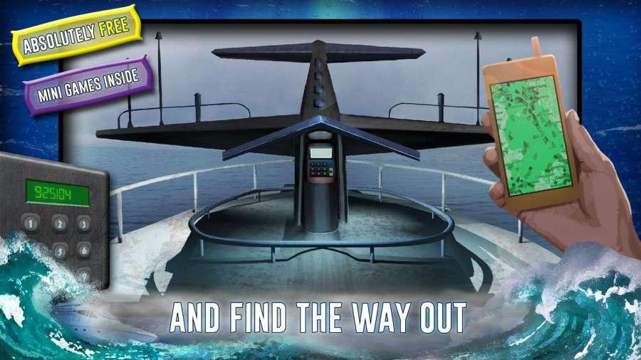从船上逃生 - 神秘的冒险截图2