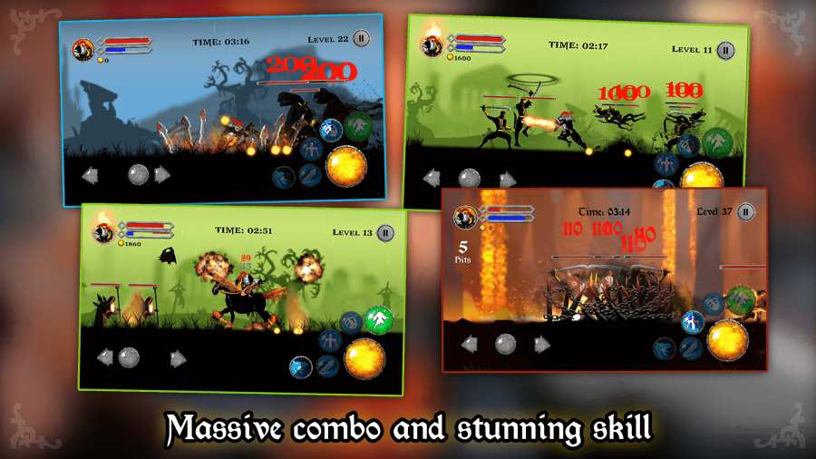 混沌骑士 - RPG 火柴人战士,暗影之战截图2